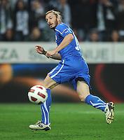 Fussball International, Nationalmannschaft   EURO 2012 Qualifikation, Slowenien - Italien          25.03.2011 Federico Balzaretti (Italien)