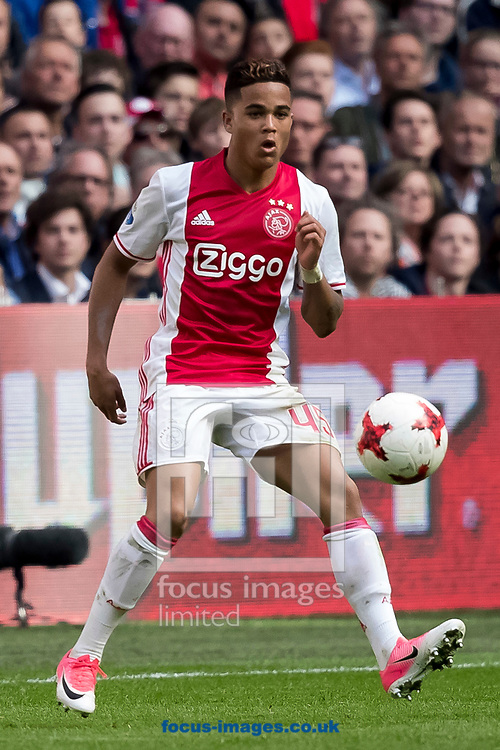Justin Kluivert of Ajax during the Dutch Eredivisie match at Amsterdam Arena, Amsterdam<br /> Picture by Joep Joseph Leenen/Focus Images Ltd +316 5261929<br /> 02/04/2017<br /> ***NETHERLANDS OUT***