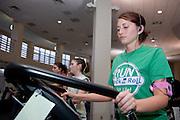 17313Inside Ping Center: Students working out;diversity....Morgan Mathews