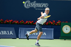 August 12, 2018 - Toronto, Ontario, Canada - HENRI KONTINEN of Finland in the doubles final at the Rogers Cup tennis tournament. (Credit Image: © Christopher Levy via ZUMA Wire)