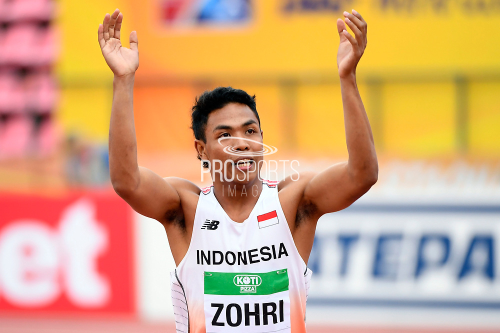 Lalu Muhammad Zohri (INA) wins the Gold Medal in 100 Metres Men during the IAAF World U20 Championships 2018 at Tampere in Finland, Day 2, on July 11, 2018 - Photo Julien Crosnier / KMSP / ProSportsImages / DPPI