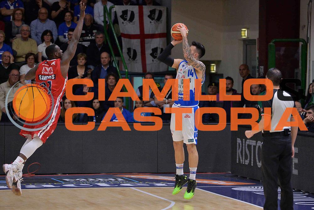 SASSARI 04 MAGGIO 2016<br /> LEGABASKET SERIE A<br /> Dinamo Banco di Sardegna Sassari - Olimpia EA7 Emporio Armani Milano<br /> NELLA FOTO Brian Sacchetti<br /> FOTO CIAMILLO