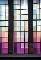 New York, New York City. High line Park windows.