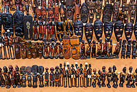 Handicrafts, Hamer tribe weekly market in Turmi, Omo Valley, Ethiopia.