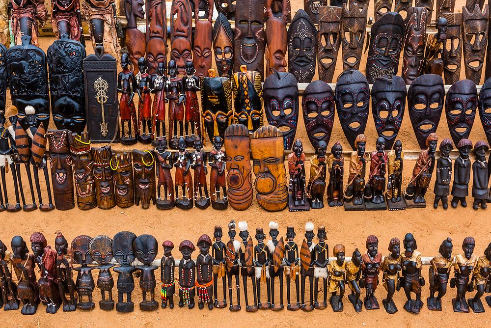 Handicrafts, Hamer tribe weekly market in Turmi, Omo Valley, Ethiopia.