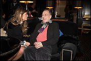 JEMIMA KHAN; STEPHEN FREARS, Party to celebrate Vanity Fair's very British Hollywood issue. Hosted by Vanity Fair and Working Title. Beaufort Bar, Savoy Hotel. London. 6 Feb 2015