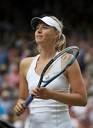 LONDON, ENGLAND - Thursday, June 30, 2011: Maria Sharapova (RUS) celebrates after winning the Ladies' Singles Semi-Final match on day ten of the Wimbledon Lawn Tennis Championships at the All England Lawn Tennis and Croquet Club. (Pic by David Rawcliffe/Propaganda)