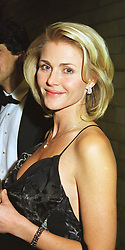 MRS NINA JUNOT former wife of the ex husband of Princess Caroline of Monaco, at a fashion show in London on 24th March 1999.MPS 39