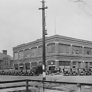 1923 image of Studebaker's South Bend service facility, later the home of the Scherman-Schaus-Freemen/Freeman-Spicer dealership. This image faces northeast from the intersection of Lafayette and South streets.