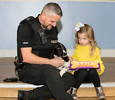 Children in hospital name police dog puppies |Edinburgh | 30 October 2017