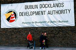 IRELAND DUBLIN MAR00 - Dublin Docklands Development Authority announces it's prestige project in the city... jre/Photo by Jiri Rezac. . © Jiri Rezac 2000. . Tel:   +44 (0) 7050 110 417. Email: info@jirirezac.com. Web:   www.jirirezac.com