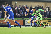 Forest Green Rovers Omar Bugiel(11) runs forward during the EFL Sky Bet League 2 match between Forest Green Rovers and Carlisle United at the New Lawn, Forest Green, United Kingdom on 23 December 2017. Photo by Shane Healey.