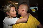MARTHA LANE FOX; STEVE HILTON, Launch of ' More Human',  Designing a World Where People Come First' by Steve Hilton. Party held at Second Home in Princelet St, off Brick Lane, London. 19 May 2015.