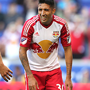 HARRISON, NEW JERSEY- OCTOBER 16:  Gonzalo Veron #30 of New York Red Bulls reacts after missing a chance during the New York Red Bulls Vs Columbus Crew SC MLS regular season match at Red Bull Arena, on October 16, 2016 in Harrison, New Jersey. (Photo by Tim Clayton/Corbis via Getty Images)