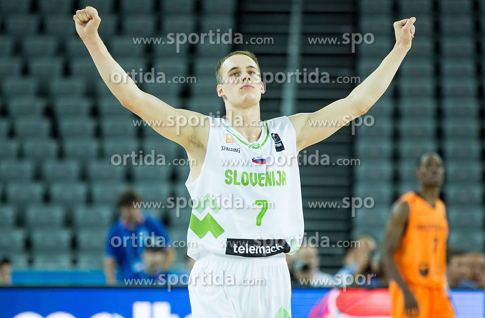 Klemen Prepelic of Slovenia reacts during basketball match between Slovenia vs Netherlands at Day 4 in Group C of FIBA Europe Eurobasket 2015, on September 8, 2015, in Arena Zagreb, Croatia. Photo by Vid Ponikvar / Sportida