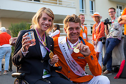 Party Nederland Jeroen Dubbeldam - Show Jumping Final Four - Alltech FEI World Equestrian Games™ 2014 - Normandy, France.<br /> © Hippo Foto Team - Leanjo de Koster<br /> 07-09-14
