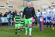 Mascot with Forest Green Rovers Joseph Mills(23) during the EFL Sky Bet League 2 second leg Play Off match between Forest Green Rovers and Tranmere Rovers at the New Lawn, Forest Green, United Kingdom on 13 May 2019.