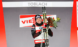 03.01.2012, Nordische Arena, Toblach, ITA, Viessmann Tour de Ski 2011, FIS Langlauf Weltcup, Damen 3,3km Klassik einzel, im Bild JUSTYNA KOWALCZYK NA PODIUM // during Ladies 3.3 km Classic Individual of Viessmann Tour de Ski 2011 FIS World Cup Cross Country at DNordische Arena, Toblach, Italy on 2012/01/03. EXPA Pictures © 2012, PhotoCredit: EXPA/ Newspix/ Tomasz Markowski..***** ATTENTION - for AUT, SLO, CRO, SRB, SUI and SWE only *****