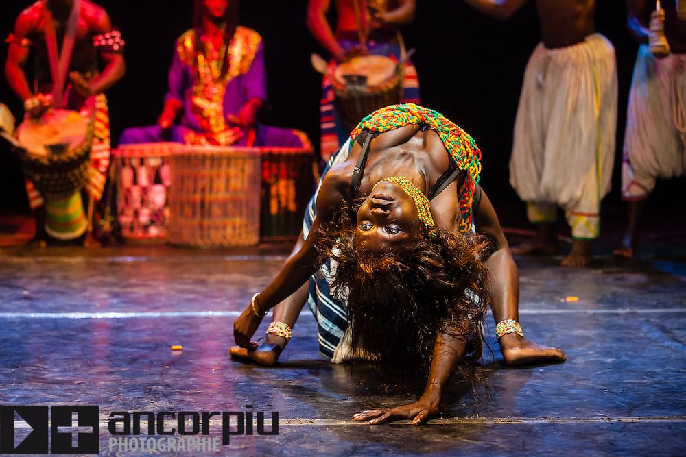 Traditional African Dance Festival in the Institute Français in Dakar (Senegal).