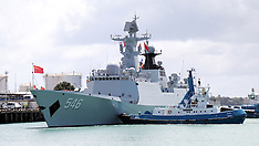 Auckland-Chinese naval craft berths for 75th NZ Navy Anniversary