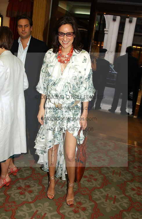 REBECCA KORNER at '4 Inches' a project 'For Women about Women By Women' - A photographic Auction in aid of the Elton John Aids Foundation hosted by Tamara Mellon President of Jimmy Choo and Arnaud Bamberger MD of Cartier UK at Christie's, 8 King Street, London W1 on 25th May 2005.<br />