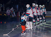 KELOWNA, CANADA - SEPTEMBER 29:  Pepsi Player of the game in the line up at the Kelowna Rockets game on September 29, 2017 at Prospera Place in Kelowna, British Columbia, Canada.  (Photo By Cindy Rogers/Nyasa Photography,  *** Local Caption ***