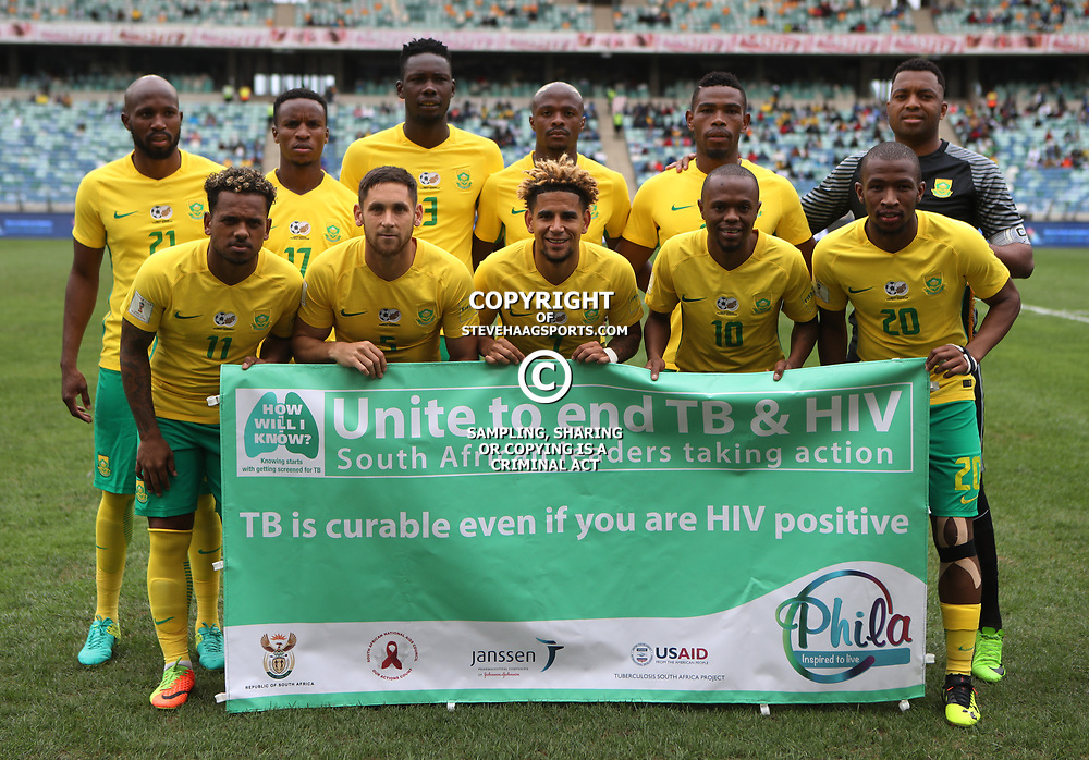Bafana Bafana South Africa team photo during the match between Bafana Bafana South Africa and Guinea-Bissau at Moses Mabhida Stadium in Durban South Africa,25 March 2017 (Steve Haag)
