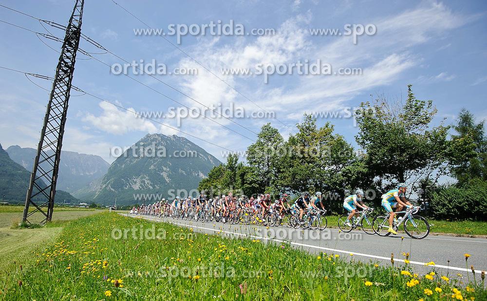 07.07.2011, AUT, 63. OESTERREICH RUNDFAHRT, 5. ETAPPE, ST. JOHANN-SCHLADMING, im Bild das Feld der Fahrer nach der Bergwertung Pass Lueg // during the 63rd Tour of Austria, Stage 5, 2011/07/07, EXPA Pictures © 2011, PhotoCredit: EXPA/ S. Zangrando