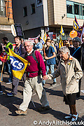 TUC demo at the Conservative party conference, Manchester. 4th October 2015