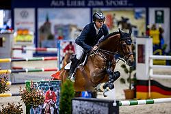 GREVE Willem (NED), Highway M TN<br /> Youngster Tour 2. Qualifikation<br /> Preis der Kanzlei Dr. Winzer und Kollegen<br /> Int. jumping competition against the clock (1.35-1,40m) - CSIYH1*<br /> Braunschweig - Classico 2020<br /> 07. März 2020<br /> © www.sportfotos-lafrentz.de/Stefan Lafrentz