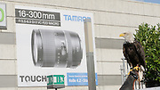 Photokina in Cologne ist the World's biggest bi-annual photo fair. Weitblick - bird flight show. Eagle with Tamron billboard.