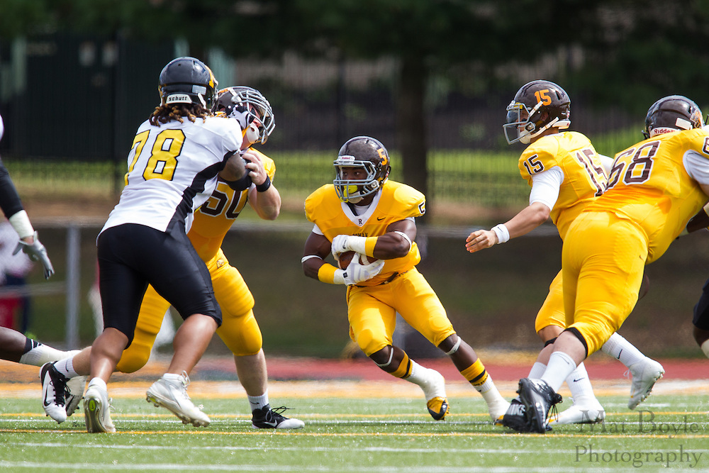 Rowan University Sophomore RB Withler Marcelin (5) - Rowan University Football vs Framingham State University at Richard Wacker Stadium in Glassboro, NJ on Saturday September 14, 2013. (photo / Mat Boyle)