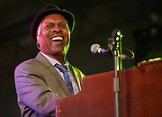OXFORDSHIRE, UK - JULY 09: Booker T. Jones performs on stage at The Cornbury Music Festival on July 9th, 2016 in Oxfordshire, United Kingdom. (Photo by Philip Ryalls)**Booker T. Jones