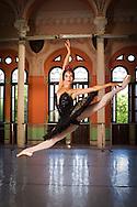 Viengsay Valdés of Ballet Nacional de Cuba in a dance studio of Escuela Nacional Cubana, Havana