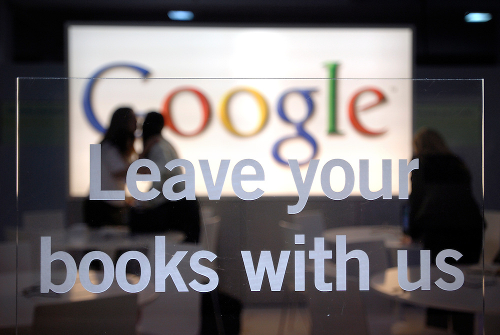 London Book Fair at the Earls Court Exhibition Centre in London. Photo shows the Google stand..Photo@Steve Forrest