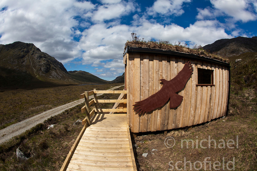 Eagle watch on the Isle of Harris, the Western Isles, Scotland. .©Michael Schofield..