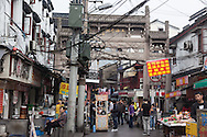 China, Shanghai. Old Town area, street market