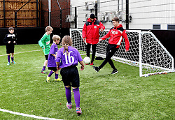 Mark Little and Luke Freeman of Bristol City play with children during The BCCT EFL Kids Cup - Mandatory by-line: Robbie Stephenson/JMP - 23/11/2016 - FOOTBALL - South Bristol Sports Centre - Bristol, England - BCCT EFL Kids Cup