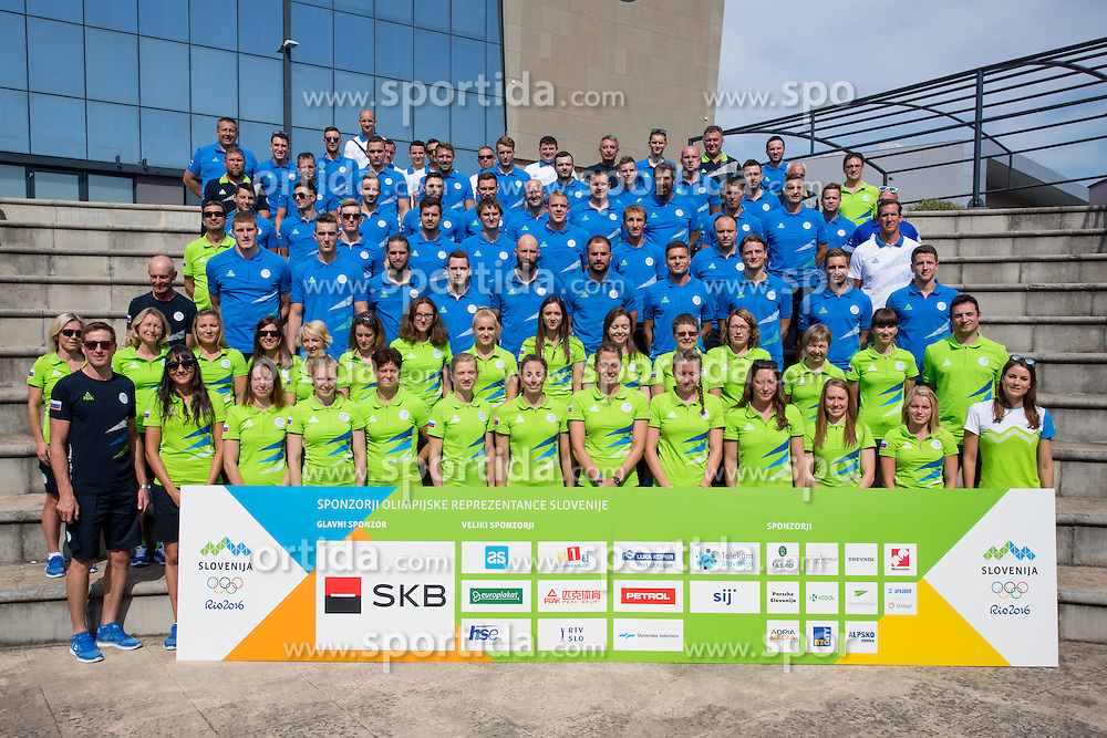 Athletes team photo with staff at presentation of Slovenian Olympic Team for Rio 2016, on July 22, 2016 in Zelezniska postage, Koper, Slovenia. Photo by Matic Klansek Velej / Sportida