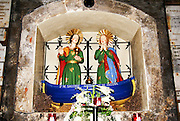 Saintes-Maries-de-la-Mer, Camargue, France The emblem of the two Marys