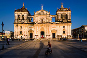 The 18th century Cathedral of Leon fronts the city's main square, and is the largest cathedral in Central America.