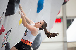 Ema Stopar (SLO) at Semifinal of Climbing event - Triglav the Rock Ljubljana 2018, on May 19, 2018 in Congress Square, Ljubljana, Slovenia. Photo by Urban Urbanc / Sportida