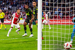 14-08-2018 NED: Champions League AFC Ajax - Standard de Liege, Amsterdam<br /> Third Qualifying Round,  3-0 victory Ajax during the UEFA Champions League match between Ajax v Standard Luik at the Johan Cruijff Arena / David Neres #7 of Ajax scores the 3-0