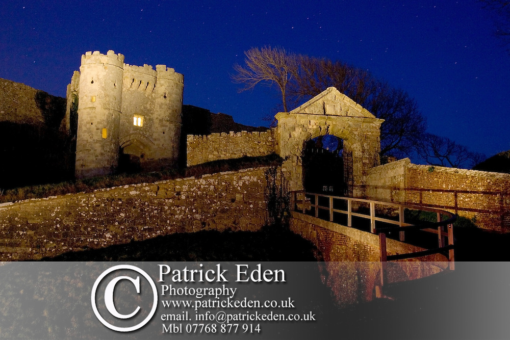 English Heritage Carisbrooke Castle. Night shot with stars. Light Painting Isle of Wight photography photograph canvas canvases