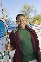 Teenage Boy Going Fishing