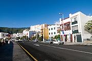 Seaside fassade of Santa Cruz de La Palma, La Palma,Canary island,Spain