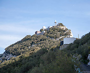 Military post on peak Rock ofGibraltar, British terroritory in southern Spain