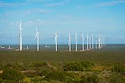 Row of Wind Turbines at the Sere Wind Farm