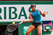 Madison Keys (usa) during the Roland Garros French Tennis Open 2018, day 12, on June 7, 2018, at the Roland Garros Stadium in Paris, France - Photo Pierre Charlier / ProSportsImages / DPPI