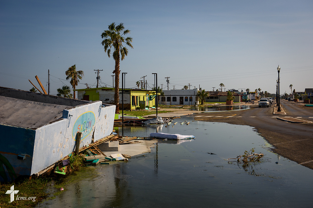 Debris and damage following Hurricane Harvey on Thursday, Aug. 31, 2017, in Rockport, Texas. LCMS Communications/Erik M. Lunsford